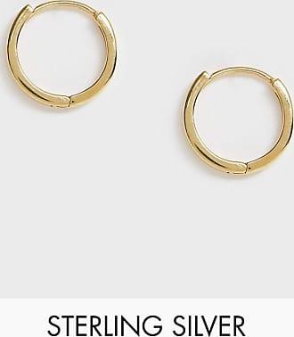 Asos Orecchini a cerchio spessi in argento sterling placcato oro 14 ct
