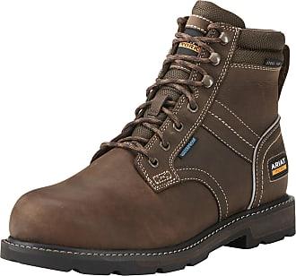 Ariat Mens Groundbreaker 6 Waterproof En Iso Lace Up Work Boots in Dark Brown, D Medium Width, Size 10.5, by Ariat