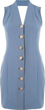 0711 Vestido com abotoamento - Azul