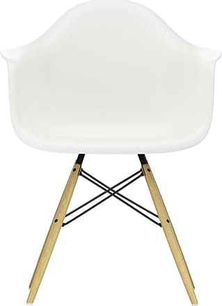 Vitra DAW Plastic Armchair Golden Maple Base