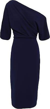 bb1461faf8 Badgley Mischka Badgley Mischka Woman One-shoulder Stretch-ponte Dress Navy  Size 2