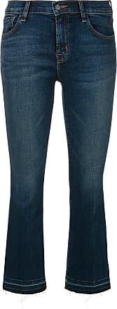 J Brand Calça jeans bootcut cropped - Azul