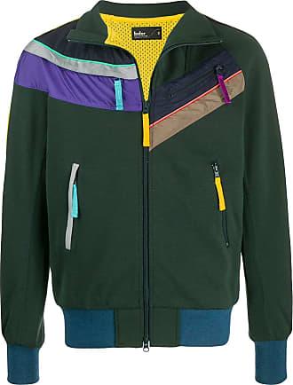 Kolor contrast track jacket - Green