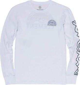 Element Mens Odyssey Long Sleeve TEE T-Shirt, Optic White, S