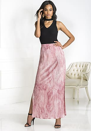 Alloy Apparel Pleated Maxi Skirt Pink Size XL/T - Cotton