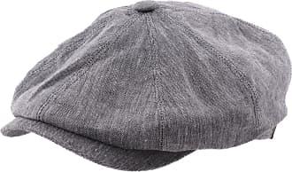 e1f3fd05861 Stetson Newsboy Cap Men Hatteras linenen - Size L - 31-gris