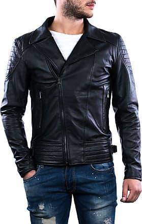 Leather Trend Italy Chiodo Napoli - Giacca Uomo in Vera Pelle colore Nero Morbida