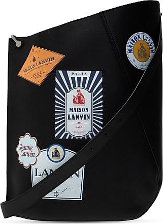 Lanvin Hook Shoulder Bag With Logos Mens Black