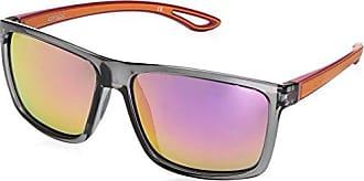 Body Glove Womens Bombara Polarized Wrap Sunglasses, Shiny Grey & Pink, 58 mm