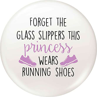 Flox Creative Small 25mm Pin Badge Glass Slippers Running Shoes