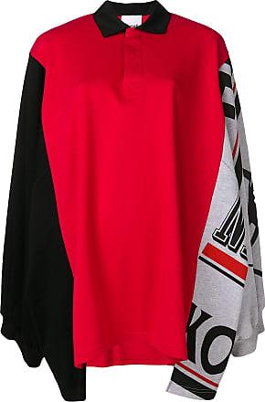 Koché Camisa polo oversized - Vermelho