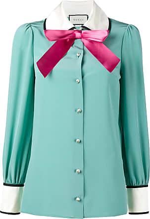 efad2e7e7a6 Gucci long sleeve pussy bow blouse - Blue