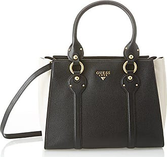 Guess Bags Satchel, Sacs portés main femme, Multicolore (Black Multi), 15x22 4c77ae0b2f5d