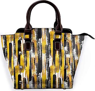 Browncin Modern Art Watercolored Grunge Brushstroke Expressionist Detachable Fashion Trend Ladies Handbag Shoulder Bag Messenger Bags