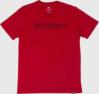 Element Camiseta Element Blazin Masculina E471A0076 Vermelho