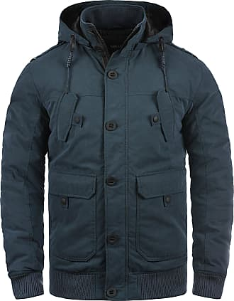 Solid Davio Mens Winter Jacket Outdoor Jacket with Hood, Size:XL, Colour:Insignia Blue (1991)