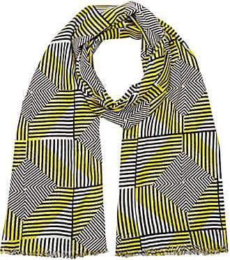 6f51ad505fd7 Benetton Aztec Print Scarf, Echarpe Femme, Jaune (Yellow Multi), Unique