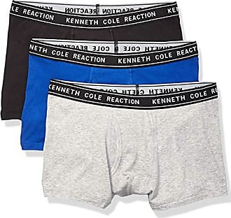 19071f596ebe30 Kenneth Cole Reaction Mens Cotton Stretch Trunk Underwear, Multipack, Black  Grey Blue - 3