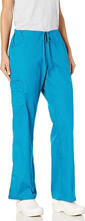 Dickies Womens Mid Rise Drawstring Cargo Scrub Pant Medical, Blue, XXL
