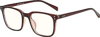 junkai Men Women Transparent Lens Glasses - TR90 Ultra-light Frame Anti Blue Light Clear Lens Glasses Frame for Computer/PC Game/TV/Cell Phone Reading Eyegla