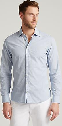 Hackett Mens Tennis Racket Print Cotton Shirt   Medium   Blue