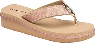 Dunlop Ladies Toe Post Low Wedge Flip Flops Raffia Beach Summer Sandals Shoes Size 3-8 (Nude Pink, Numeric_6)