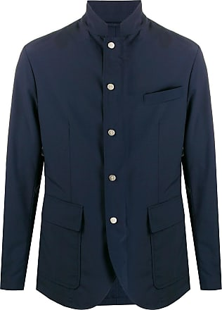 Eleventy high-neck tailored jacket - Blue