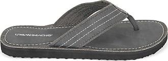 Urban Beach Mens Ridge FW542 Toe Post Beach Flip Flops Sandals Shoes (Size 7, Grey)