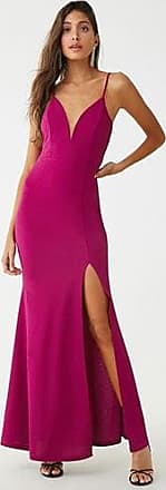 Forever 21 Forever 21 Plunging V-Wire Gown Magenta