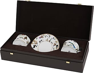 Roberto Cavalli Gardens Birds Teacup & Saucer - Set of 2 - Luxury Gift Box