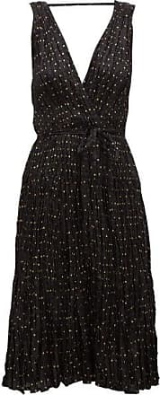 Mes Demoiselles... Balsan Polka-dot Crinkled-silk Midi Dress - Womens - Black Print