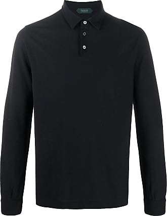 Zanone long-sleeved polo shirt - Black