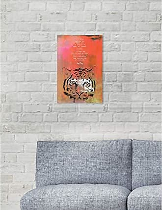 The Oliver Gal Artist Co. The Oliver Gal Artist Co. Oliver Gal Maggie P Chang-Tiger Orange Wild Animals Wall Art Print Premium Canvas 10 x 15