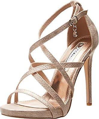 ab2bedc1 Xti 35054, Zapatos con Tacon y Correa de Tobillo para Mujer, Rosa Nude,