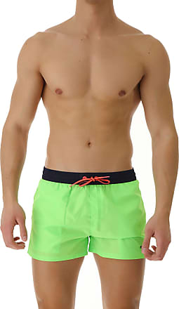 Diesel Swim Shorts Trunks for Men On Sale, Fluo Green, polyester, 2017, XL S L