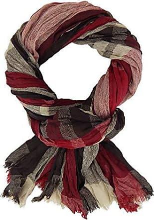 Schal beige rot braun Sterne Used Look Vintage Damenschal by Ella Jonte new in