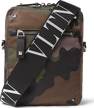 Valentino Valentino Garavani Leather-trimmed Camouflage-print Canvas Messenger Bag - Army green