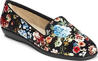 Aerosoles Womens Betunia Slip-On Loafer, Black Floral, 6.5 M US