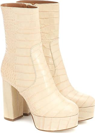 PARIS TEXAS Exclusive to Mytheresa - Cocco croc-effect leather ankle boots