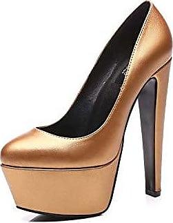 fad9683bc6e645 Giaro Samy High Heels in Übergrößen Gold Samy Gold Matte große Damenschuhe