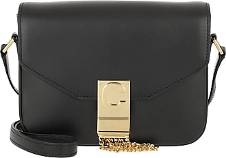 Celine Small C Bag Shiny Calfskin Black Umhängetasche schwarz