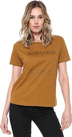Zoomp Camiseta Zoomp Lettering Amarela