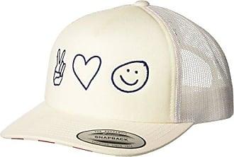 Hurley Womens Merica USA Trucker Snapback Cap, White, NO NO Size