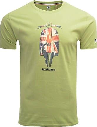 Lambretta Mens Union Scooter TEE T - Shirt, Green (Moss Moss), XX-Large (Size:2XL)
