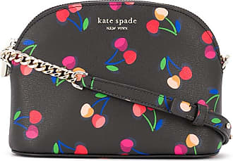 Kate Spade New York Bolsa transversal Spencer com estampa de cereja - Preto