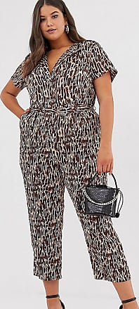 Unique21 Hero Unique21 Hero - Jumpsuit mit abstraktem Animalprint-Braun