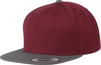Yupoong Flexfit Unisex Classic Varsity Snapback Cap (One Size) (Burgundy/Charcoal)