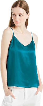 LilySilk Womens Silk Camisole Vest Lingerie Ladies Tank Top 22 Momme Charmeuse Silk (M/12, Dark Teal)