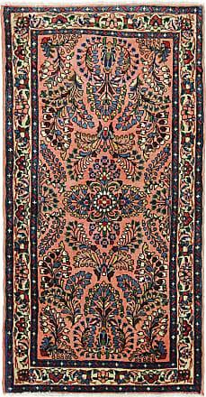 Nain Trading 137x70 Tappeto Orientale Saruk Corridore Beige/Blu Scuro (Persia/Iran, Lana, Annodato a mano)