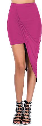 The Celebrity Fashion Womens Wrap Asymmetric Drape Ruched Maxi Party Side Split Slit Midi Mini Skirt